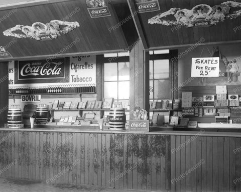 Coca Cola Snack Bar Vintage 8x10 Reprint Of Old Photo