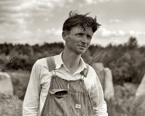 Depression Era Farmer Vintage 8x10 Reprint Of Old Photo - Photoseeum