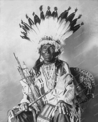 Chief Sioux Native Indian Portrait 8x10 Reprint Of Old Photo