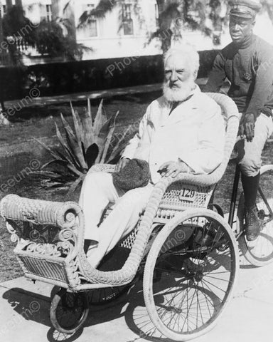 Alexander Graham Bell Wheeled In Chair 1922 Vintage 8x10 Reprint Of Old Photo - Photoseeum
