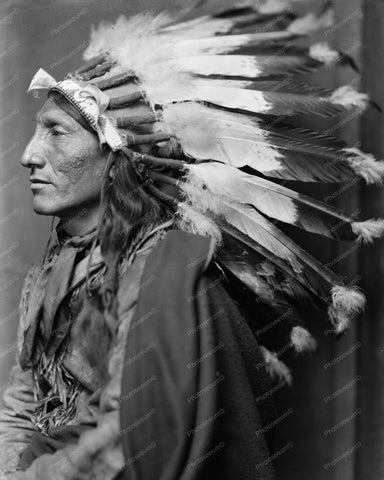 Whirling Horse American Indian Vintage 8x10 Reprint Of Old Photo