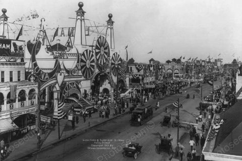 Coney Island Luna Park and Surf Ave 1900s 4x6 Reprint Of Old Photo