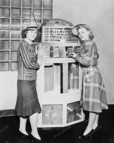AMI Singing Towers Jukebox Beautiful Models Vintage 8x10 Reprint Of Old Photo 1