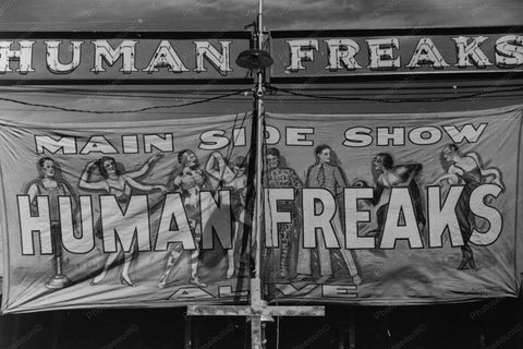 Vermont Sideshow Poster Human Freaks 1940 4x6 Reprint Of Old Photo