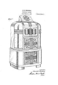 USA Patent Rockola Jukebox 40 Super Luxury 1408 Drawings
