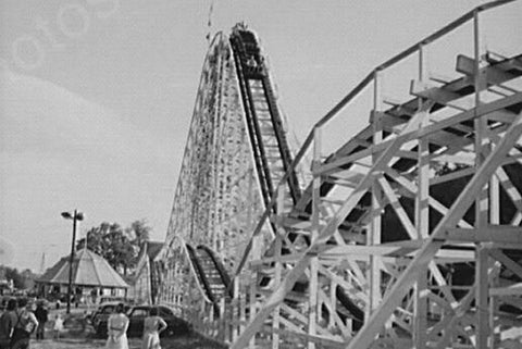 Connecticut Fair Roller Coaster 1940s 4x6 Reprint Of Old Photo - Photoseeum