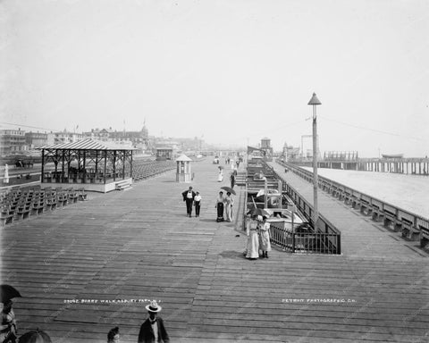 Asbury Park NJ Boardwalk 1900s 8x10 Reprint Of Old Photo