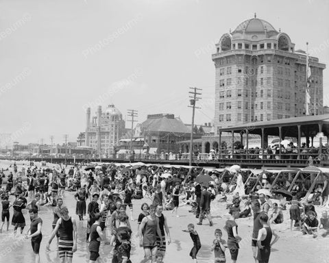 Bathers Atlantic City 1910 Vintage 8x10 Reprint Of Old Photo
