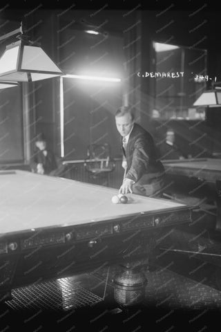 Champ Billiards Player C Demarest 1910s 4x6 Reprint Of Old Photo