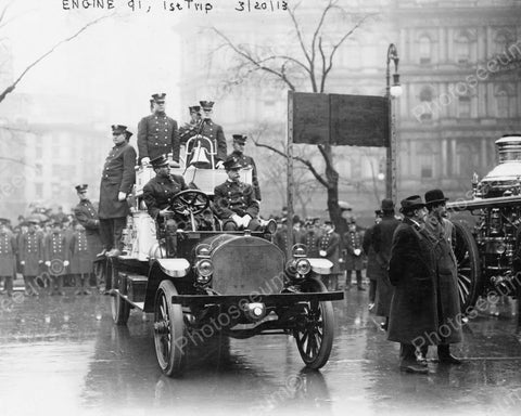Firemen Ride Engine In New York 1900s 8x10 Reprint Of Old Photo