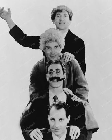 The Marx Brothers In Totem Pole  Pose! 1931 Vintage 8x10 Reprint Of Old Photo