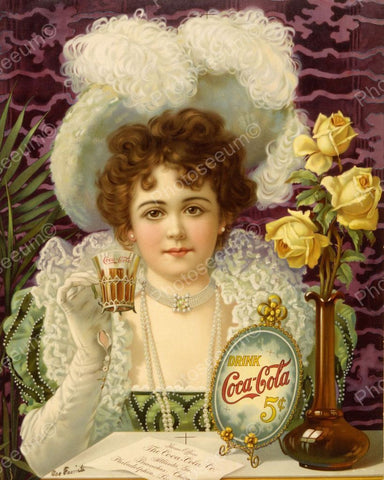 Coca Cola Ad Picture 1890 Vintage 8x10 Reprint Of Old Photo