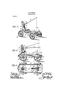 USA Patent Fishing Wagon 1890's Drawings