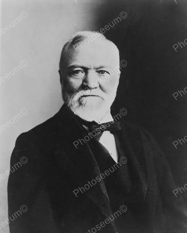 Andrew Carnegie Distinguished Portrait  Vintage 1930s Reprint 8x10 Old Photo