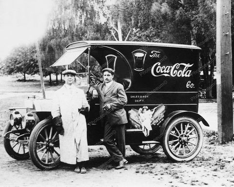 Coca Cola Soda Very Early Sales & Advertising Truck 8x10 Reprint Of Old Photo
