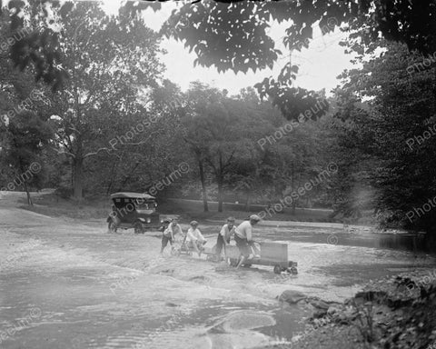 Soap Box Derby Cars In Water 1924 Vintage 8x10 Reprint Of Old Photo
