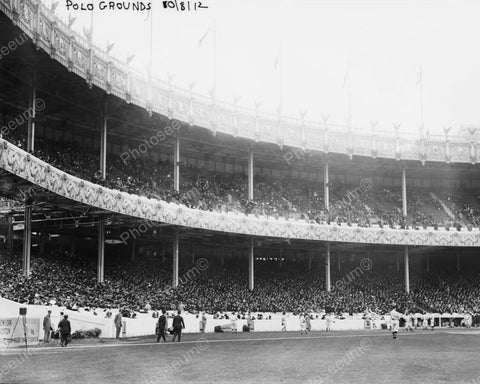 1st World Series Game Polo Grounds NY 1912 Vintage 8x10 Reprint Of Old Photo - Photoseeum