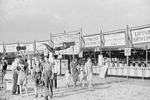 Florida Fair Science Sideshow 4x6 Reprint Of Old Photo 1930s