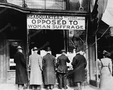 Headquarters Opposed To Woman Suffrage 1911 Vintage 8x10 Reprint Of Old Photo - Photoseeum
