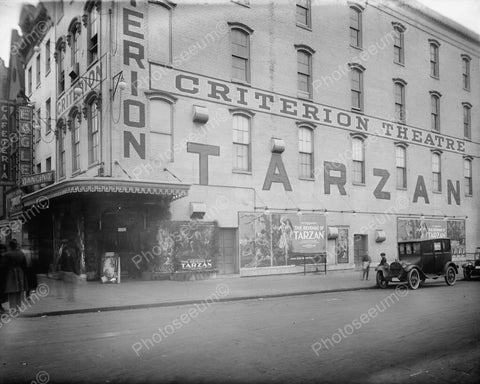 Criterion Theatre Showing Tarzan 1900s 8x10 Reprint Of Old Photo