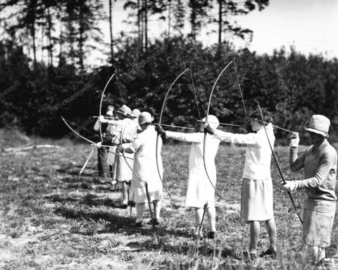 Womens Archery Contest 1928 Vintage 8x10 Reprint Of Old Photo 2
