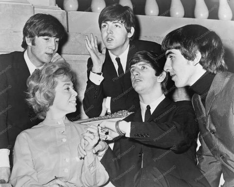 Beatles with Dr Joyce Brothers in 1964  8x10 Reprint Of Old Photo