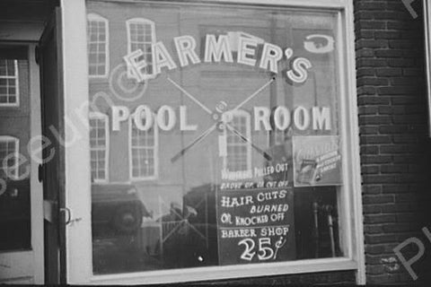 Farmer's Pool Room North Carolina 1930s 4x6 Reprint Of Old Photo