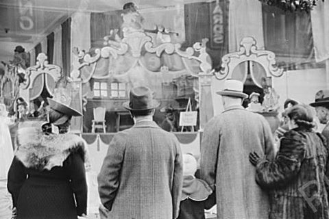 Crowd Looks At Toy Window Providence RI 4x6 Reprint Of Old Photo