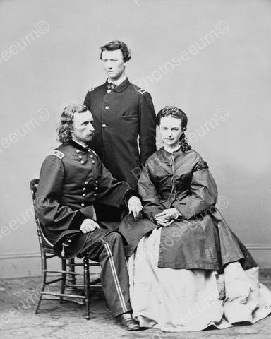 Colonel George Custer Family Portrait 1800s 8x10 Reprint Of Old Photo