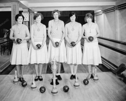 Bowling Team 1931 Vintage 8x10 Reprint Of Old Photo