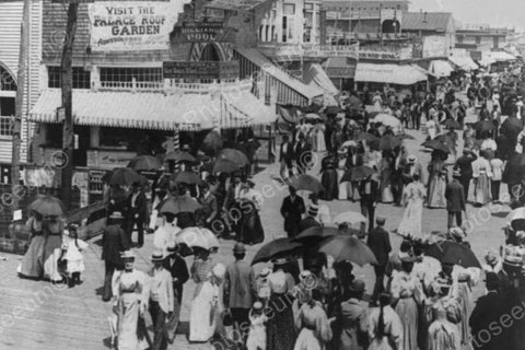 Atlantic City Busy Boardwalk 1890s 4x6 Reprint Of Old Photo