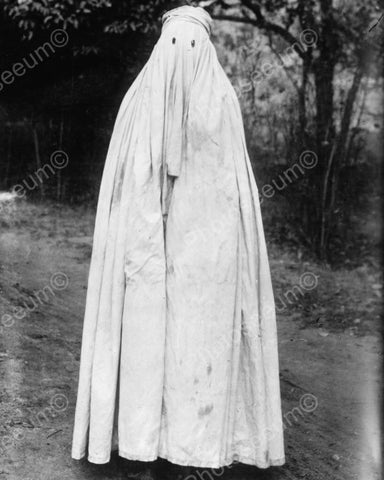 Woman In Veil Head To Toe! India 1900s 8x10 Reprint Of Old Photo