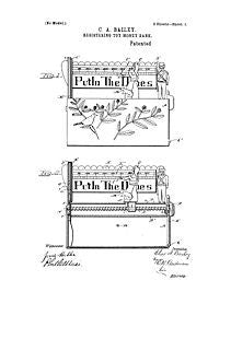 USA Patent Put In The Tunes Bank 1890's Drawings