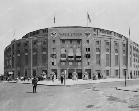 Yankee Stadium Building Vintage 1900s 8x10 Reprint Of Old Photo
