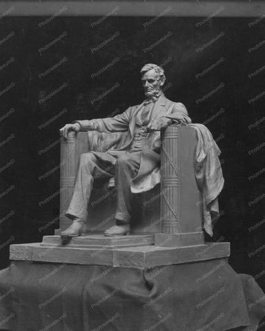 Working Model Statue Of Abraham Lincoln 8x10 Reprint Of Old Photo