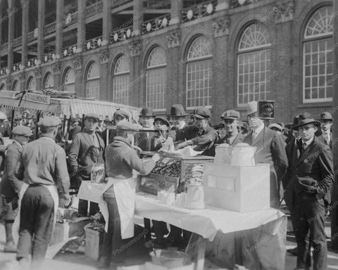 Baseball Fans Hot Dog Stand Ebbets Field 8x10 Reprint Of Old Photo