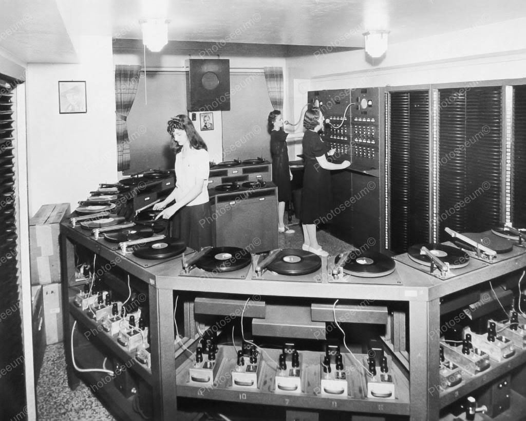 AMI Automatic Hostess Record Selection & Playing 8x10 Reprint Of Old Photo