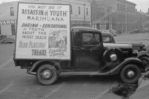 Assassin Of Youth Marihuana Poster Truck 1938 Vintage 8x10 Reprint Of Old Photo