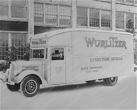 Wurlitzer Jukebox Truck North Tonawanda NY Plant 8x10 Reprint Of Old Photo