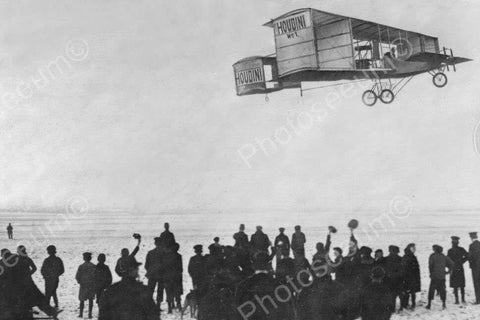 Antique Houdini Airplane Soars! 1900s 4x6 Reprint Of Old Photo - Photoseeum