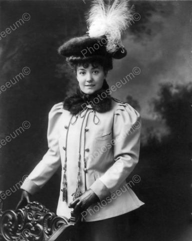 Victorian Lady In Pillbox Hat 1800s 8x10 Reprint Of Old Photo - Photoseeum