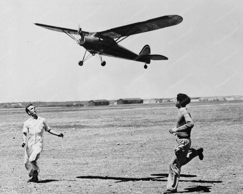 American Boys Run Giant Model Airplane 8x10 Reprint Of Old Photo
