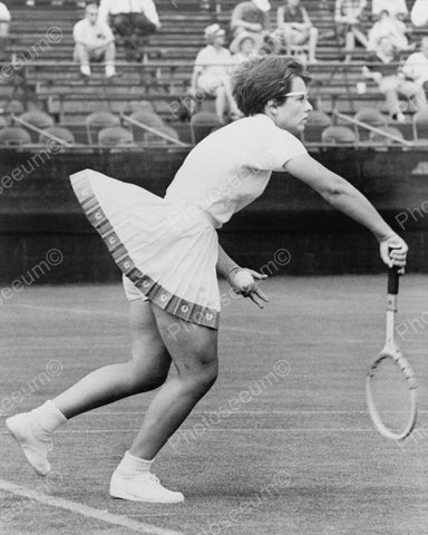 Billie Jean King Tennis Match South Orange NJ Vintage 8x10 Reprint Of Old Photo - Photoseeum
