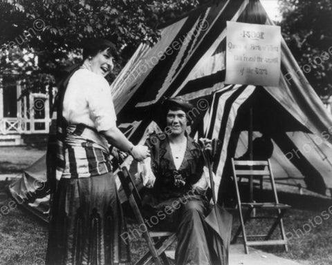 Fortune Teller In Front Of  Her Tent 8x10 Reprint Of Old Photo