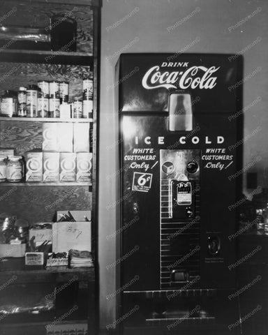 Drink Coca Cola Vending Machine 1951 8x10 Reprint Of Old Photo