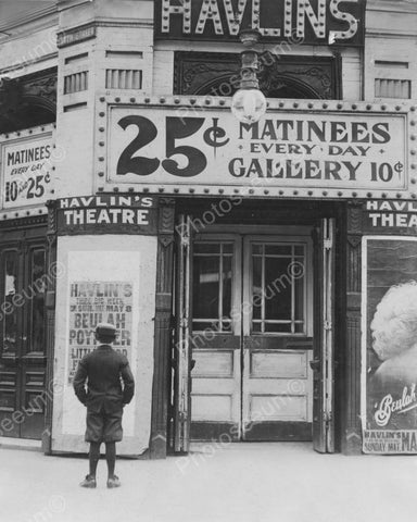 Havlins Theatre 25 cent Matinees 1900s 8x10 Reprint Of Old Photo