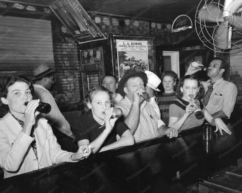 Women Drinking Beer At The Bar 1938 8x10 Reprint Of Old Photo