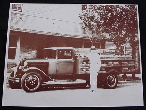 Coca Cola Bottling Delivery Truck Vintage Sepia Card Stock Photo 1930s - Photoseeum