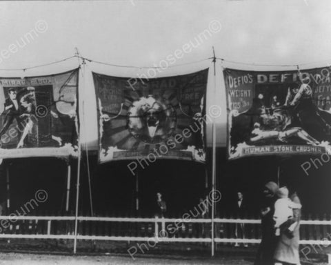 Carnival Sideshow Canvas Banner 8x10 Reprint Of Old Photo - Photoseeum