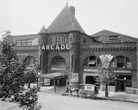 Arcade Amusements Building Washington 8x10 Reprint Of Old Photo